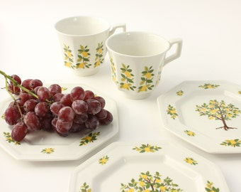 Johnson Brothers Lemon Cups and Plates
