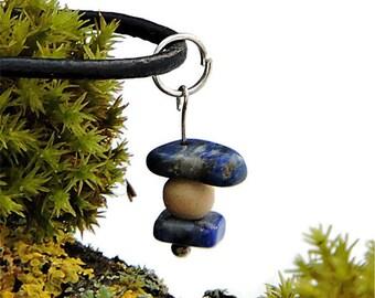 Simple necklace lapis lazuli bohemian jewelry blue gemstone pendant lapis lazuli jewelry blue bohemian necklace simple gemstone jewelry awin