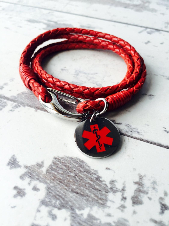 medical id bracelet custom engraved