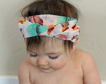 Rainbow Feather Headwrap