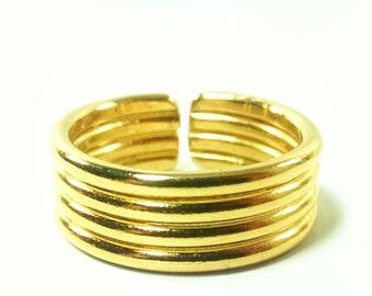 Brass Ring: KAREN Gold plated