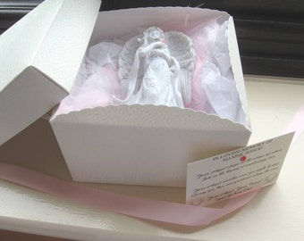 Guardian Angel Ornament - Personalised - In Loving Memory Of - Gift Boxed
