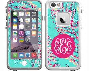 Monogrammed Lilly Pulitzer Skin LifeProof Case Decal - iPhone 6/6s PLUS, iPhone 6/6s, iPhone 5/5s/SE, iPhone 5c or iPhone 4
