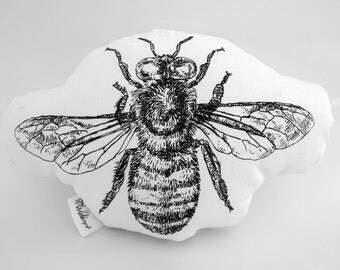 Bee handcrafted cotton plushie