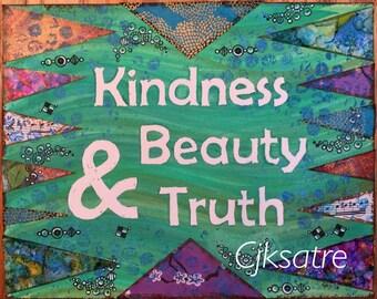8 x 10 Kindness Mixed Media Print