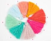 Cotton TASSEL Bracelet size 25mm High Quality 10 pcs- Pale Color