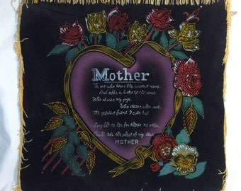 Home Decor, Mother Banner - Mother Gift - Mother's Day Gift - Mother's Wall Decor - Mom Gift Art - Gold Trim Wall Decor - Epsteam