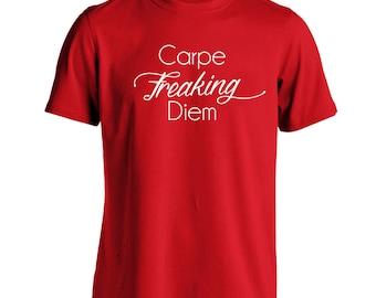 Carpe Freaking Diem Karma Funny Poem Yoga Humor Men's T-Shirt DT1294