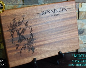 Personalized Cutting Board, Engraved Cutting Board, Custom Board, Wedding Gift, Anniversary Gift, Bridal Gift, Christmas Gift