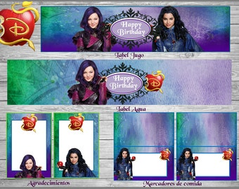 NEW!!! DESCENDANTS Printable Party Set!!!Perfect for your Birthday!!!