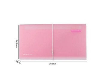 Accordeon map transparent pink