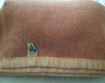 "Vintage Kenwood Blanket 100% Wool 78"" x 67""~ Dusty Rose Pink~"