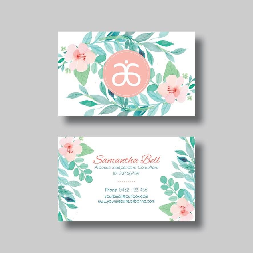 Arbonne Business Card Floral 1 0 Digital Design