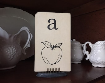 Small Letter A Flashcard--apple--gallery wall