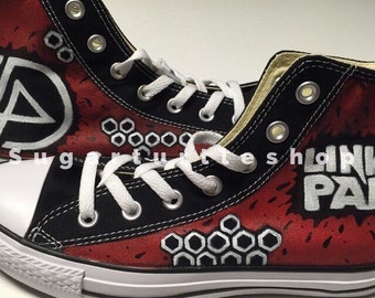 Custom hand painted LINKIN PARK band shoes