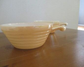 Set of 2  Vintage Fire King Copper tint Casserole/ Soup bowls