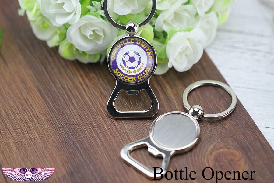 blank bottle opener key chain bezel beer opener key fob. Black Bedroom Furniture Sets. Home Design Ideas