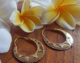 Brass Earrings, Brass Jewelry, Hoop Earrings, Bohemian Jewelry, Gypsy Jewelry