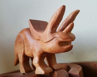 Triceratops, wooden dinosaurus, wooden dino, wooden toy, waldorf inspired
