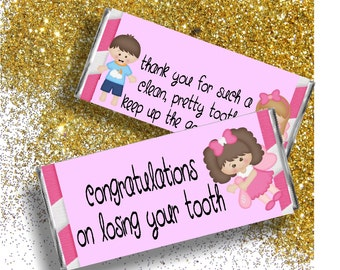 Tooth Fairy Candy Bar Wrapper Printable
