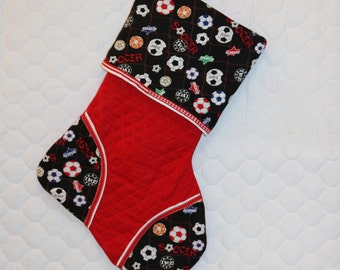 Soccer Handmade Custom Christmas Stocking