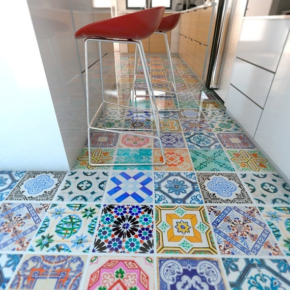 Spanish Tiles Flooring Floor Tiles Floor Vinyl Tile Stickers