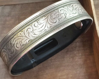 Fitbit Flex Bracelet Replacement Silver Heirloom size Medium