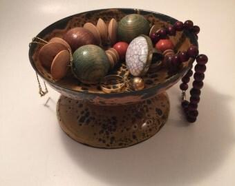Jewelry dish with Funky Orange Glaze