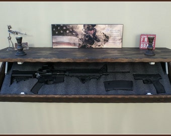 "47""XL Rustic Pine Hidden Compartment shelf."