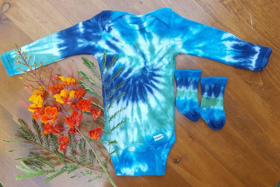 infant tie dye onesie boho baby clothing hippie baby baby
