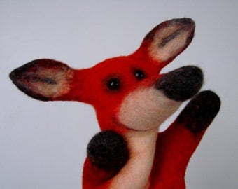 FOX felted puppet BiBaBo natural toys ecologically friendly toys