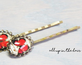 Butterfly Bobby Pins - Red Butterfly Bobby Pins