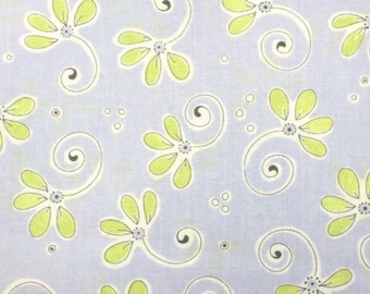 Suzybee SUZY'S WHIMSICAL FLORAL 100% Cotton Premium Quality Fabric for Quilting - by 1/2 yard