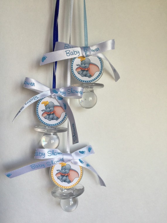 dumbo baby shower pacifier favors set of 12 clear baby shower favors