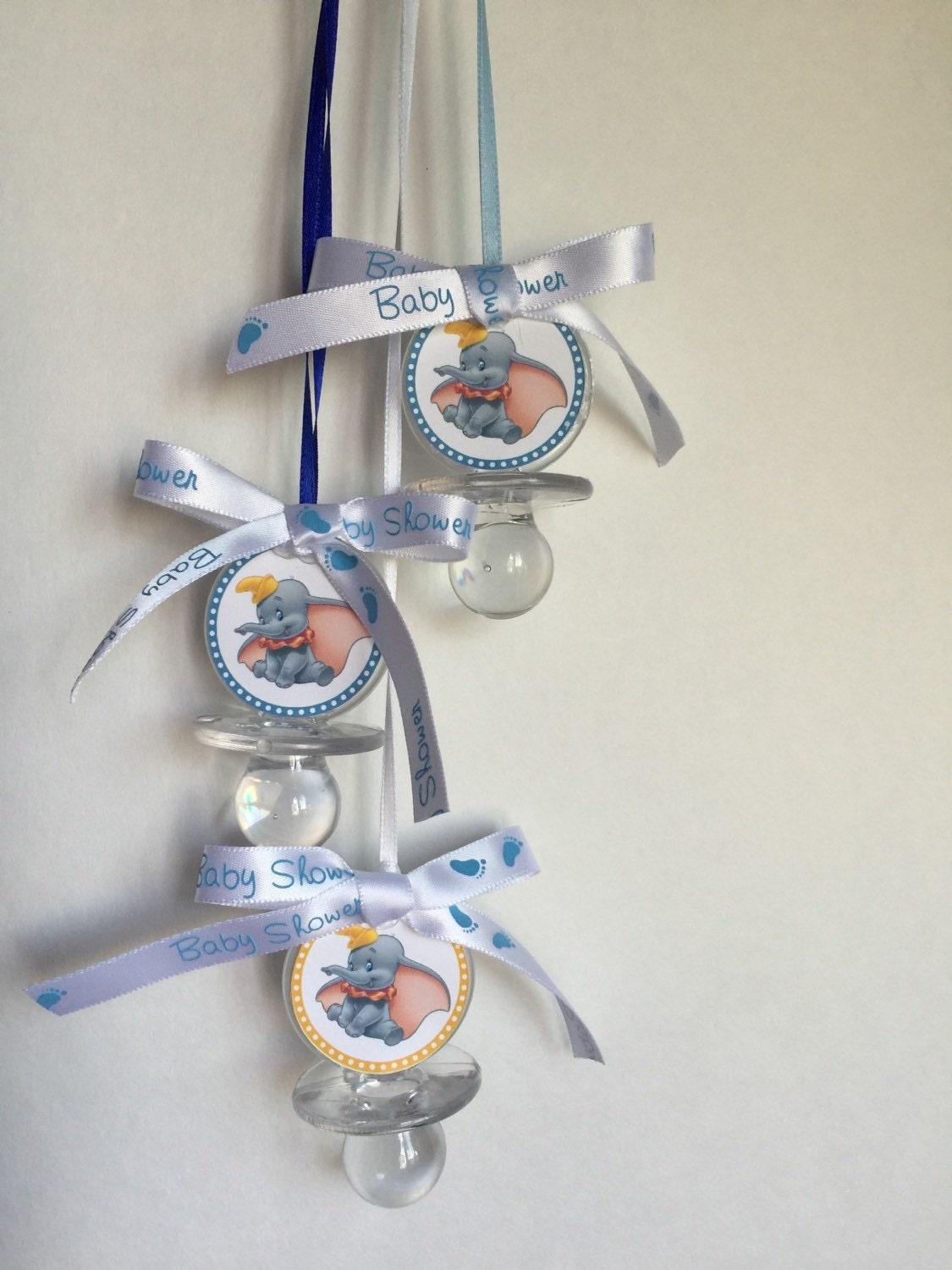 dumbo baby shower pacifier favors set of 12 clear baby