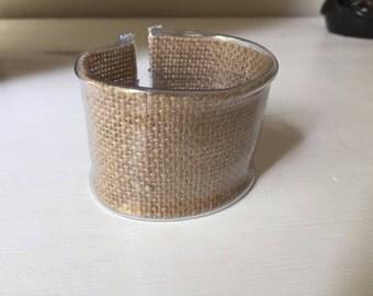 PLEXI bracelet with jute