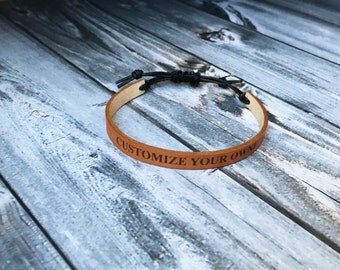 Men's leather bracelet- Personalized gift for men - Valentine's gift for men- Father's Day - Boho Bracelet - Leather Bracelet- Leather Cuff