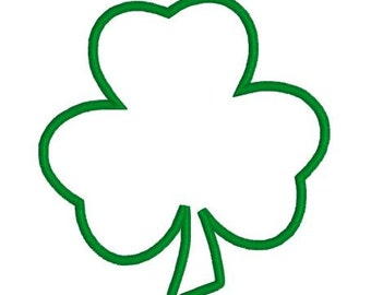 Machine Embroidery Design Shamrock Applique