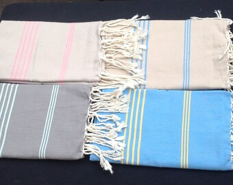 Tunisian Hand Woven 100% Natural Cotton Scarf,Shawl,Wrap and /Or tablecloth