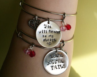 Custom Hand-Stamped Necklace/Bangle