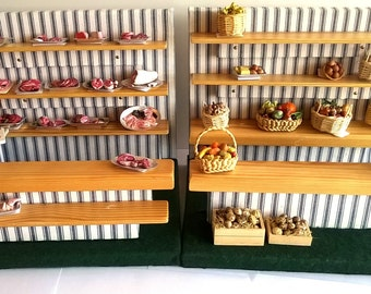 Dolls House Miniature - Handmade - Fully Assembled - Market Stall - Shop Interior with Shelves - Shop Display  1:12 Scale OOAK