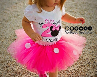 Minnie Mouse tutu, Pink polka dot tutu, Pink tutu, Minnie Mouse costume, Pink skirt, Pink and white tutu, Gift for girls