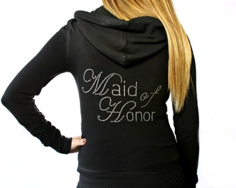 Maid of Honor Hoodie. Bridal Party Hoodie. Wedding Hoodie. Bride Apparel. Bride Hoodie. Bride Gift. Matron of Honor Hoodie.