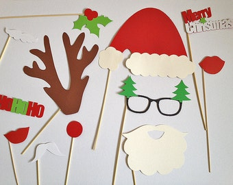 Christmas photobooth props package
