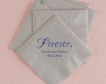 Forever Personalized Wedding Napkins (Pack of 100)
