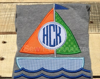 Sail boat shirt for boys - summer shirt for boys - sail boat shirt - beach shirt for boys