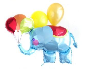 Circus Elephant Balloon - Carnival theme Baby Shower Birthday Paper Decor
