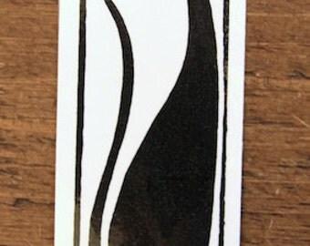 Hello Cat - large bookmark