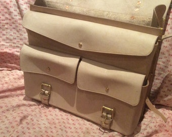 Leather Satchel, large size. Bike pannier. Saddle bag