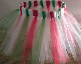 Red, Green, White Christmas Tutu for Toddler ~ Ready to Ship!
